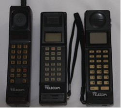 British Telecom Opal, Coral and Ivory mobile phones from the 80s